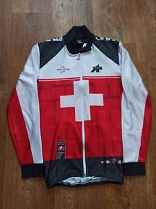 Mens Assos Cycling Red Jersey Longsleeve Jacket Suisse Swiss Size S