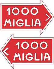 Racing Car Decal Nostalgic1000 Mille Miglia Monte Carlo Rally Motorsport Sticker