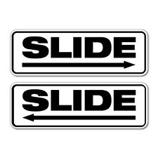 Slide Arrow Door Sign Sticker Decal Shopfront Trading #7406ST