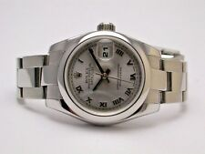 ROLEX 179160 DATEJUST OYSTER PERPETUAL SS SILVER DIAL ROMAN NUMERAL LADIES WATCH