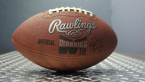Peyton Manning #18 Rawlings Official Football Junior Size Ball Sports