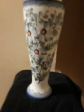 Jp Floral Bottle Vase 9 inches tall top 11.5 inches Round