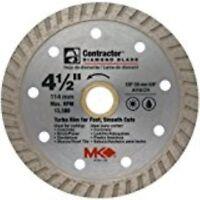 MK Diamond 159404 MK-99 4-1/2-Inch Dry or Wet Cutting Turbo Saw Blade with 5/8-I