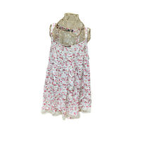 Girl Express Womens Multicoloured Tops 16 Sleveless Floral Lace Trim Button Up