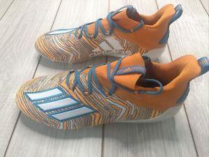 NWOB Adidas Men's Adizero Football Lacrosse Cleats Size 11 Orange Blue