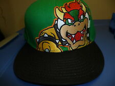 Nintendo Adult Super Mario Brothers Bowser Fitted Hat Licensed $19.99 Tags M