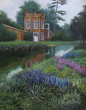 ACEO PRINT OF PAINTING RYTA LANDSCAPE FLOWERS HOUSE ANTIQUE STYLE GARDEN SPRING