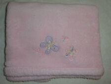 Bright Future Pink Fleece Butterfly Baby Blanket Butterflies