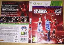 cover artwork for NBA 2k13 Xbox 360 NO GAME DISC INCLUDED
