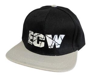 ECW Extreme Championship Wrestling Black Polysnap Baseball Cap Hat