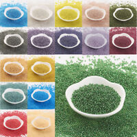 11/0 Transparent Japan Import Glass Round Seed Beads Crafts 2x1.5mm About 900pcs