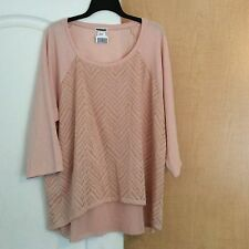 New Wet Seal - Pink Sweater Knit/ Sheer Bottom/front Women Top Plus Size 2X