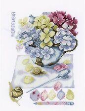 LANARTE 0154328 Hortensia Kit Broderie Point de Croix Compté étamine
