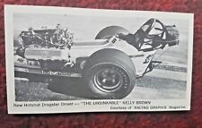 1971 Fleer Stick Shift #1 Kelly Brown's Dragster**FREE SHIPPING*