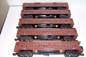 Lionel  O Scale 5 car set Madison cars