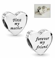 Genuine Pandora Sterling Silver Mother & Friend Heart charm 791518 ALE 925