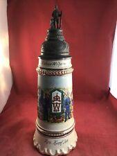 New listing Original German Regimental Stein With Musicbox. Antique Swiss Lador 1/2 Liter