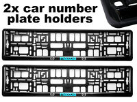 2 x Doming CAR Number Plate Surround Holder Frames BEST FIT for MAZDA