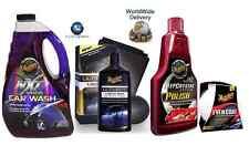Meguiars ultimate liquide cire deep cristal polonais lavage voiture microfibre pads kit