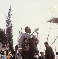 Guitarist Bb King Plays A Gibson Es355 1970s OLD MUSIC PHOTO 4