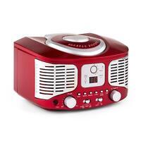 Promo Lettore Cd Radio Idea Regalo Fm Cucina Porta Aux Vintage Anni 50 Rosso