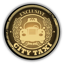 "City Taxi Emblem Car Bumper Sticker Decal 5"" x 5"""