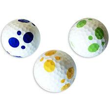 6 Golfbälle Weiß - Vision Goker Dalmatian - Lady Soft Gelb Bunt Golfgeschenk