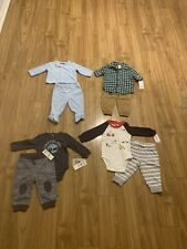 Lot 8 Baby Boy Clothes Size 6 Months Cute Winter Carter's Timberland Plus More