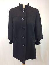 BNWT Marks & Spencer - Size 14 - Ladies Black Wool Blend Textured Short Coat NEW