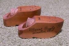 1940's Pair of Wooden Shoe SALT & PEPPER SHAKERS, Mt. Gayler Tower, Winslow, Ark