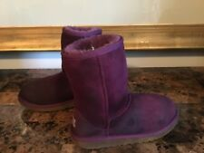 Girl's UGG Australia Boots Size 3M Dark Purple Suede Sheep