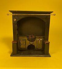 Realistic Dollhouse Miniature Fireplace w/ glowing coal embers 1:12 scale