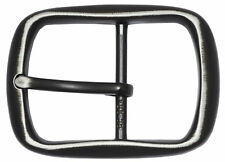 """Black Center Bar Buckle w/Distressed Edges 1 1/2"""" - By The Belt Shoppe"""