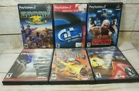 Lot of 6 Playstation 2 PS2 Games Tested TNA Impact Gran Turismo 3 A-spec