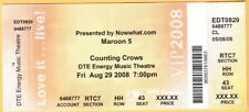 2008 Maroon 5 Counting Crows concert ticket Clarkston Michigan Adam Levine