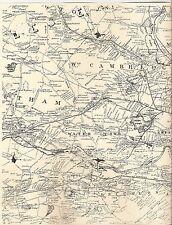 Medford Watertown Arlington Brighton MA 1852 Map with Homeowners Names Shown
