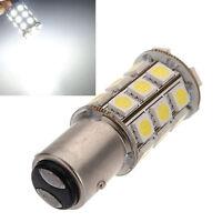 2X 1157 White BAY15D P21/5W 27SMD 5050 Car 12V LED Tail Brake Light Bulb Lamp W8