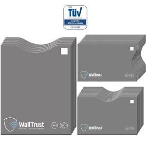 WallTrust® RFID NFC Blocker Set 26 Stk. | Blocking Schutzhülle * TÜV geprüft *