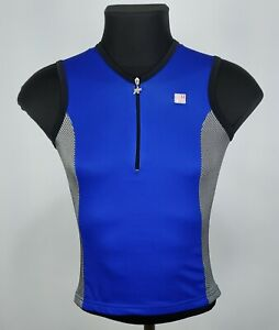 Assos Ladies Blue/Gray 1/4 Zip Jersey Size M