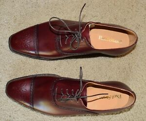NIB CROCKETT AND JONES FOR PAUL STUART BURGUNDY OXFORDS UK 8 US 9D