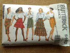Butterick Pattern 5462 X5 SKIRTS mock wrap ruffle boho pencil tie side 12 14 16