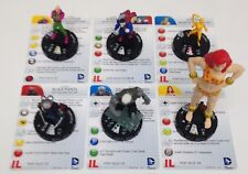 Heroclix Superman and Legion set COMPLETE 6-figure Fast Forces figures w/cards!