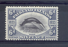 FALKLAND ISLANDS SG 133 1933 FIN WHALE STAMP MNH