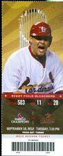 2012 Cardinals vs Astros Ticket: Kyle Lohse gets win No. 15/Astros 100th Loss