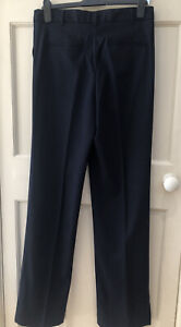 """BNWT NEXT NAVY TAILORED STRAIGHT LEG SLOUCH FIT TROUSERS - 10T XXL (36"""" LEG)"""