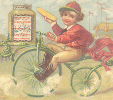 LIEBIG EXTRACT OF MEAT TRADE CARD, BIG WHEEL FANCY TRICYCLE & A LARGE JAR TTC713