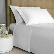 $425+tax Frette Hotel Classic Percale QUEEN Duvet White / White Embroidery Italy