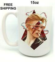 David Bowie, Birthday, Christmas Gift, White Mug 15 oz, Coffee/Tea