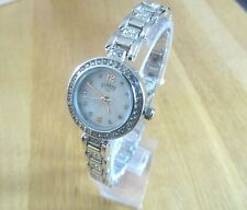 LADIES LIMIT WATCH MOTHER OF PEARL DIAL SILVER BRACELET WITH DIAMANTE  STONES