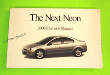 2000 Dodge Neon Owners Manual Owner's Guide Book Highline, ES